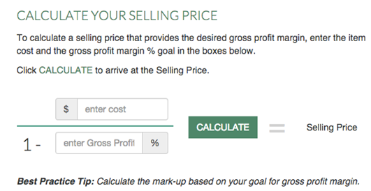 calculate selling price